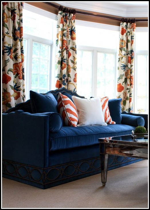 Orange And Navy Blue Curtains Curtains Home Design