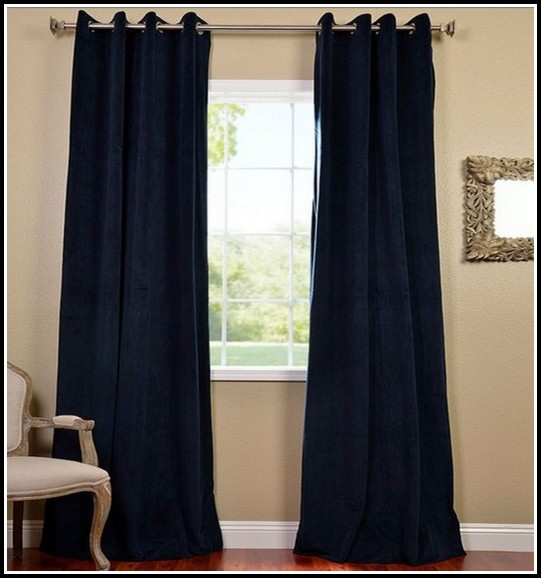 Navy Blue Blackout Curtains 96 Curtains Home Design