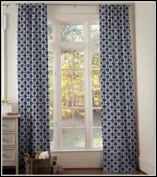 Navy Blue Gingham Blackout Curtains