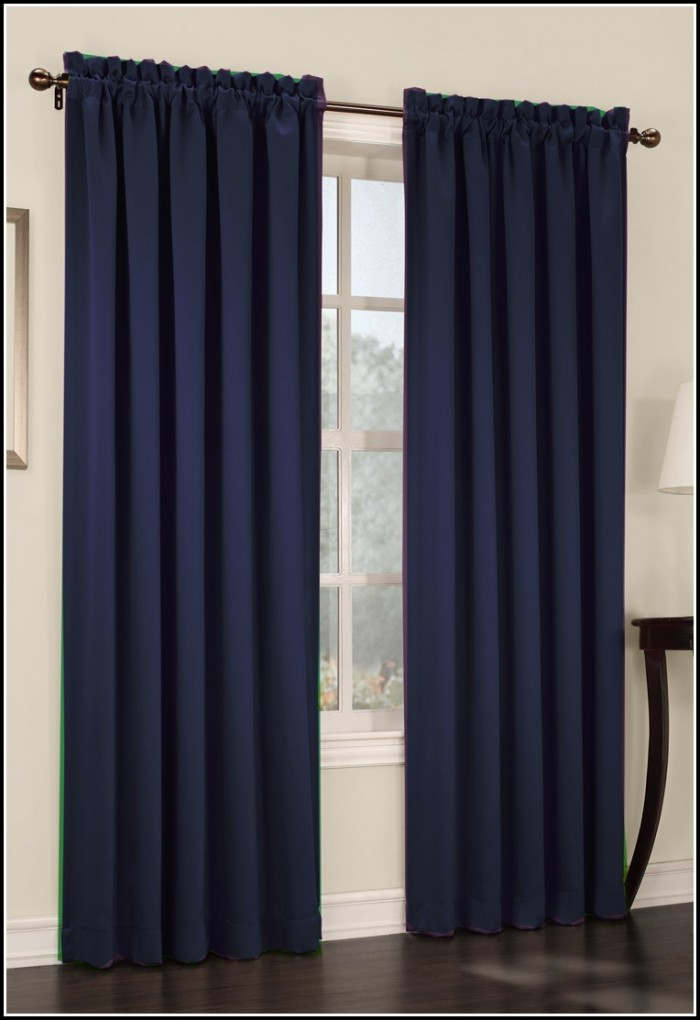 Navy Blue Velvet Curtain Panels