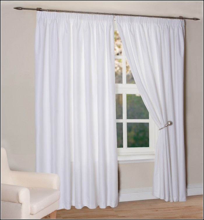 Off White Faux Silk Curtains