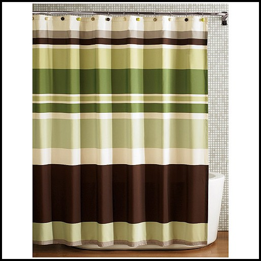 Olive Green And Brown Curtains