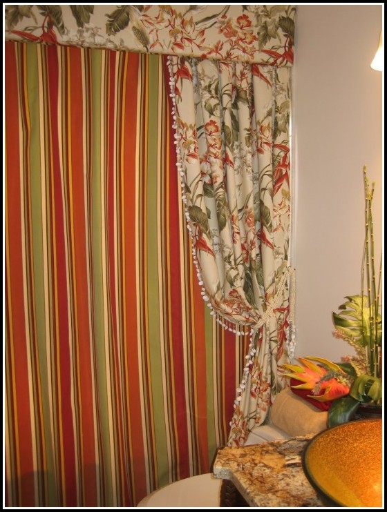 Orange And Green Plaid Curtains