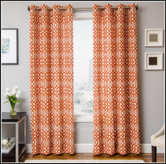Orange And White Shower Curtains