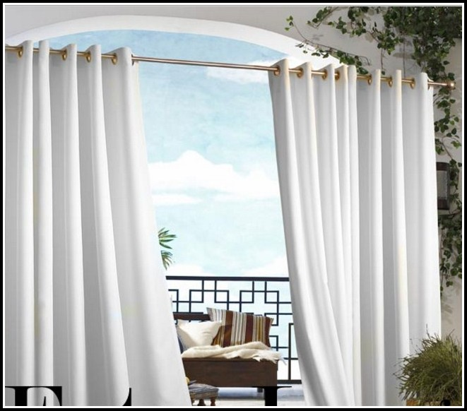 Outdoor Curtains With Grommets White