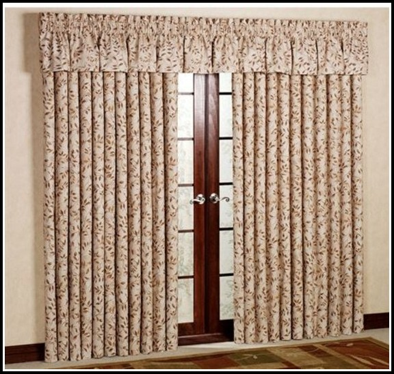 Patio Door Traverse Curtain Rod Curtains Home Design