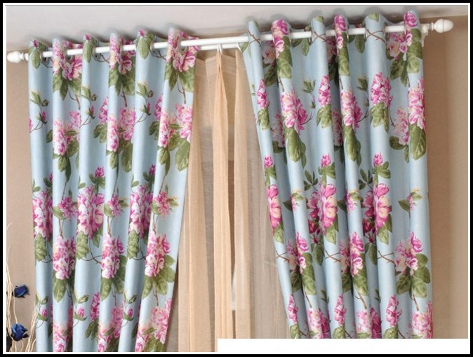 Pink And Blue Shower Curtains