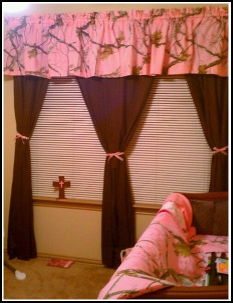 Pink And Brown Baby Curtains