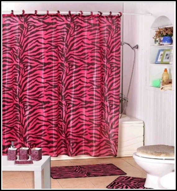Pink And Brown Shower Curtains