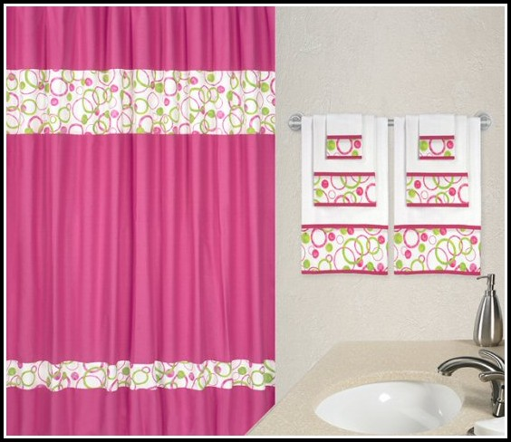 Pink And Green Paisley Curtains