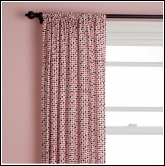 Pink And Orange Polka Dot Curtains