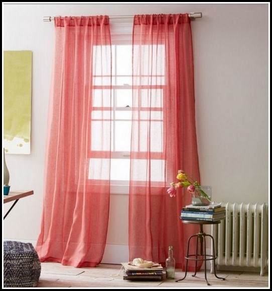 Pink Sheer Curtains For Nursery
