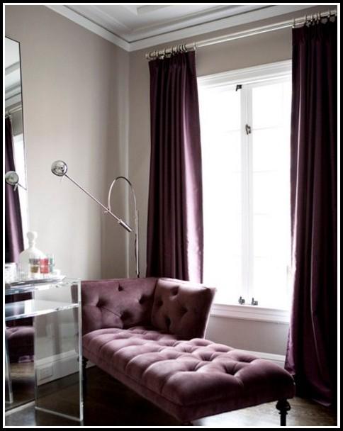 Purple And Black Window Curtains