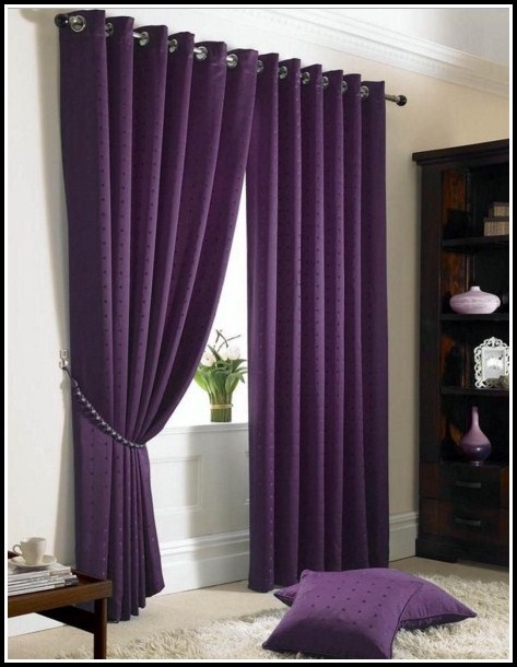 Purple And Gold Window Curtains