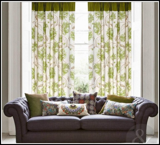 Purple And Green Window Curtains