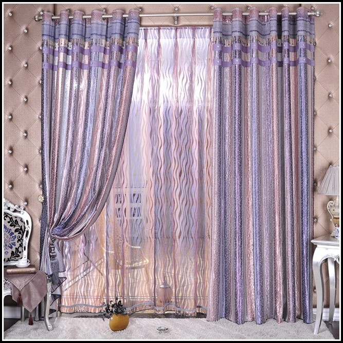 Purple And Silver Striped Curtains Download Page Home