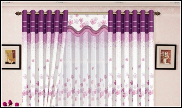 Purple And White Polka Dot Curtains