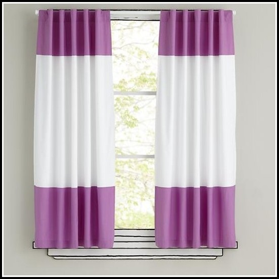 Purple And White Shower Curtains