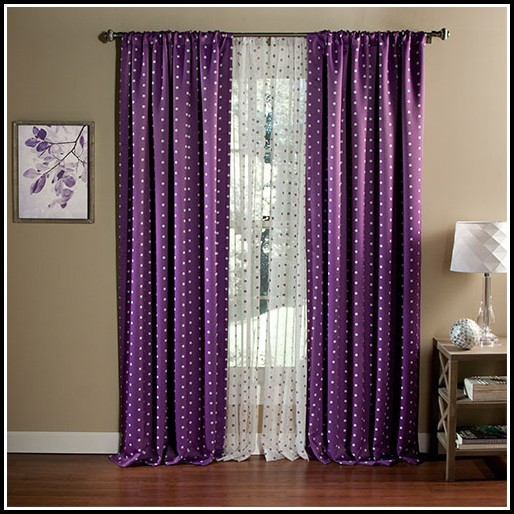 Purple Polka Dot Blackout Curtains