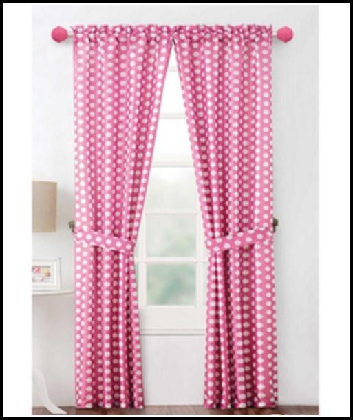 Purple Polka Dot Curtain Panels