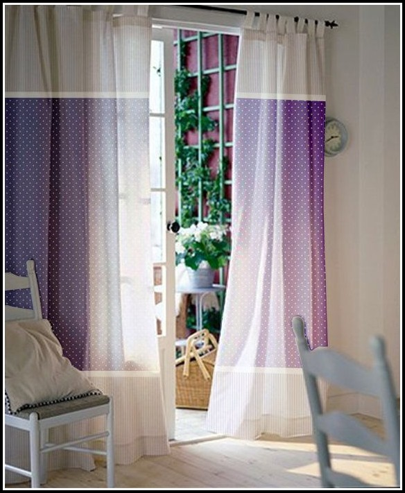 Purple Polka Dot Sheer Curtains