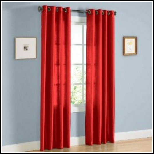 Red 95 Inch Curtain Panels