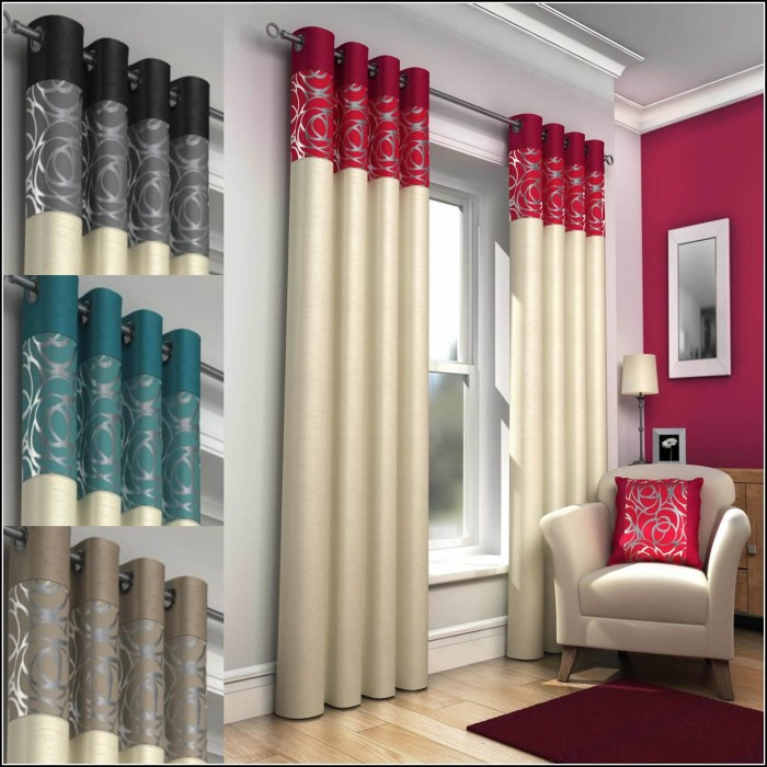 Black And Red Curtains For Kitchen