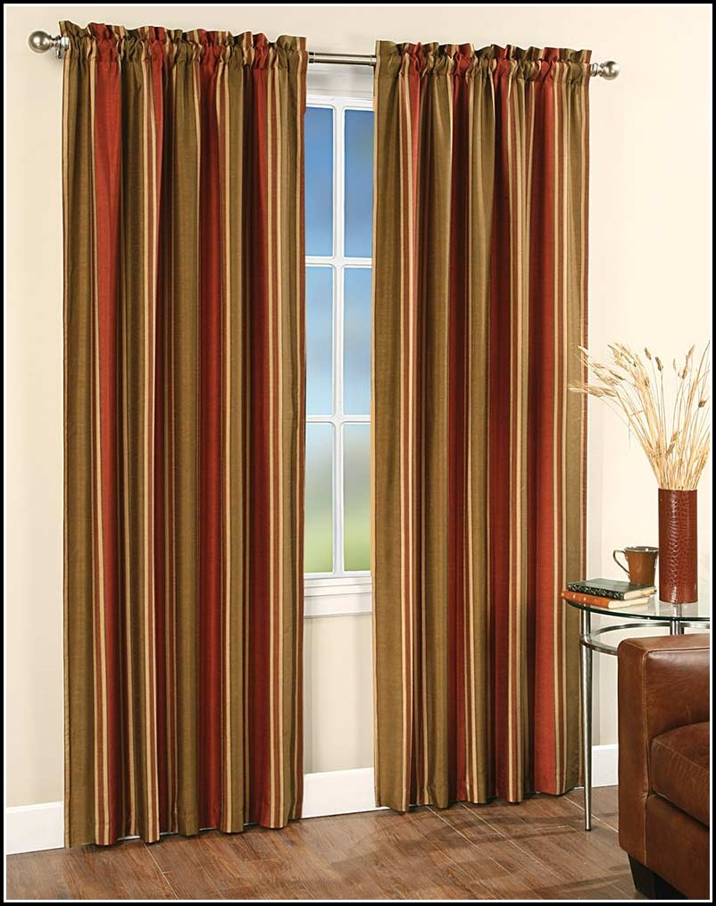 Red And Gold Plaid Curtains