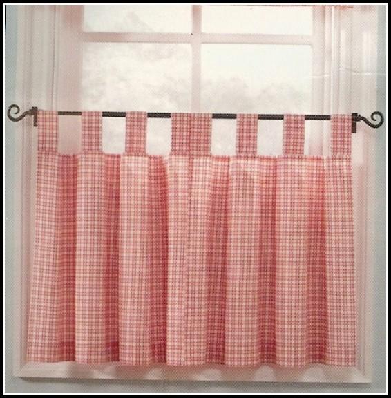 White Tab Top Kitchen Curtains - Curtains : Home Design ...