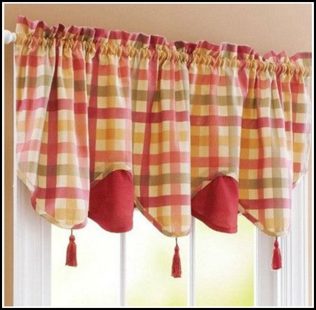 Red And Yellow Plaid Curtains