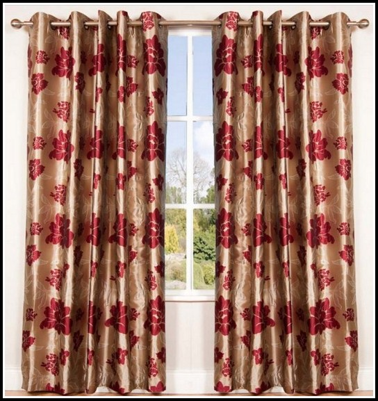 Red Black And Gold Curtains
