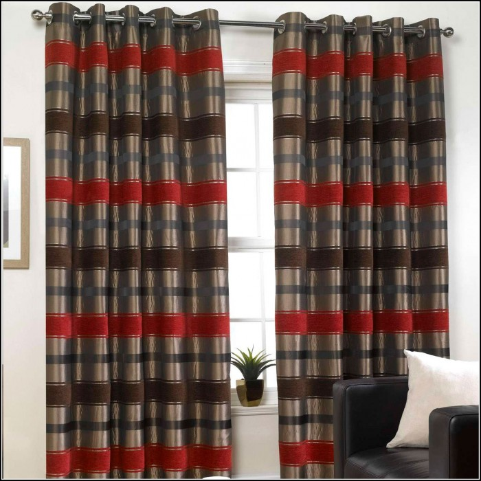 Red Black And Grey Curtains