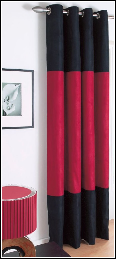 Red Black And White Bedroom Curtains
