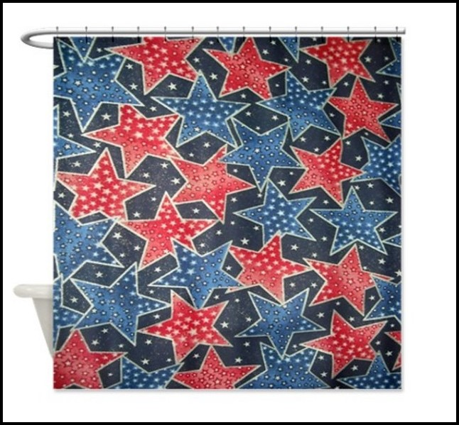 Red White And Blue Star Curtains