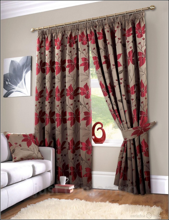 Red White And Grey Curtains