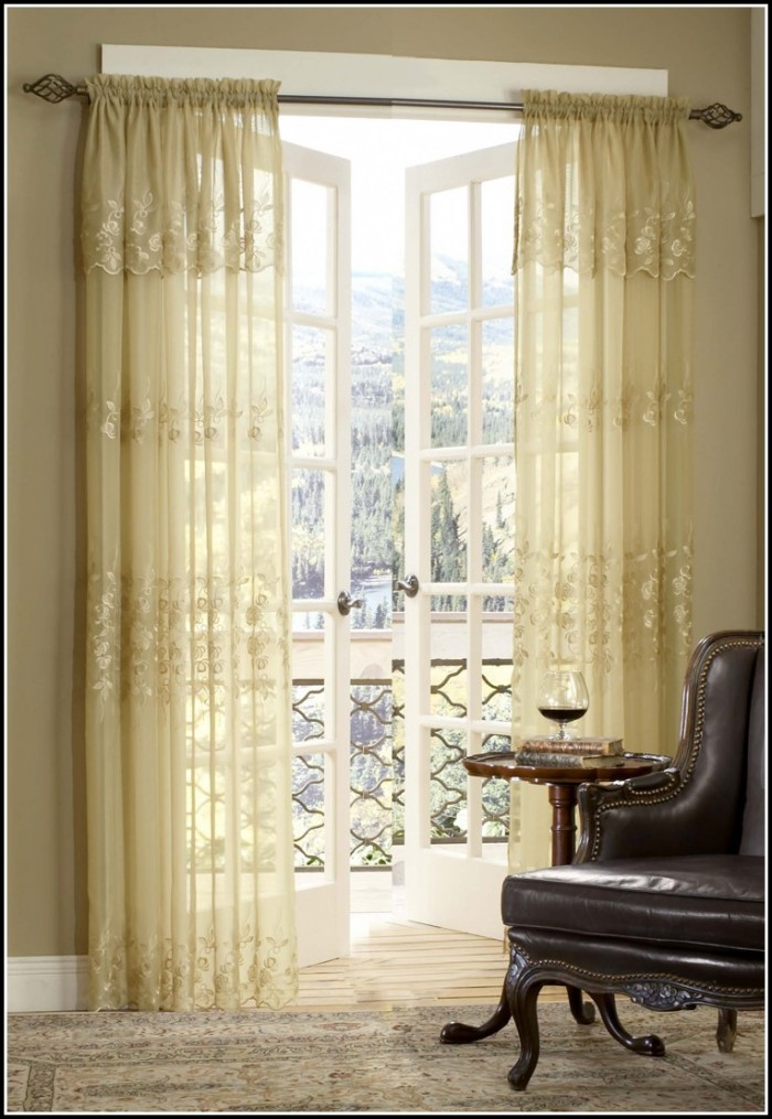 Brown Sheer Curtains With Valance - Curtains : Home Design ...