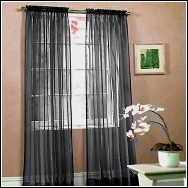 Sheer Black Curtains With Valance