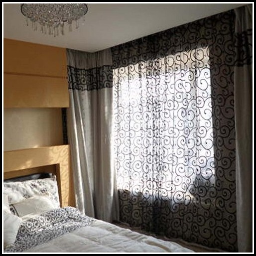 Sheer Curtains With Scarf Valance
