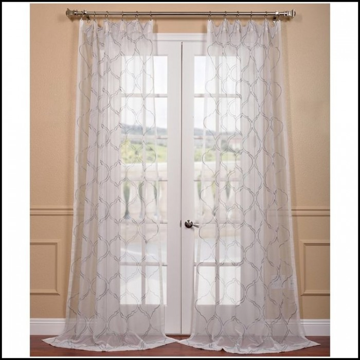 Sheer linen tab top curtains curtains home design for Linen sheer window panels