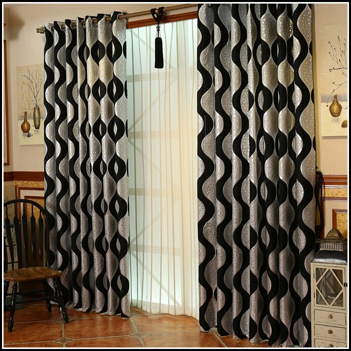 Silver And Black Damask Curtains - Curtains : Home Design Ideas ...