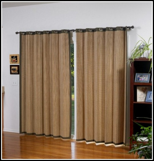 Sliding Glass Door Curtain Rod Size