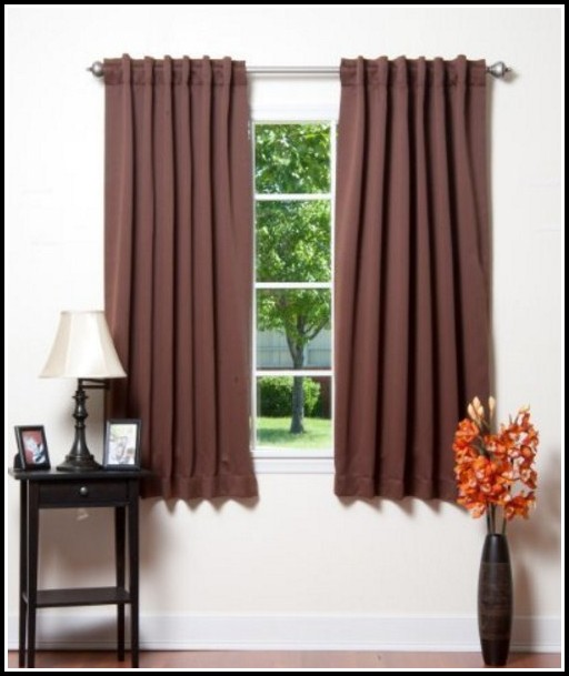 Solid Thermal Insulated Blackout Curtains Chocolate