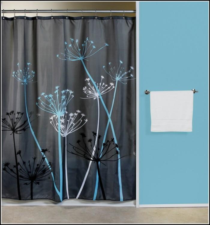 Teal And Black Damask Curtains