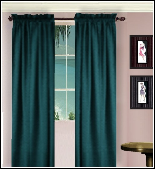 Teal And Black Shower Curtains