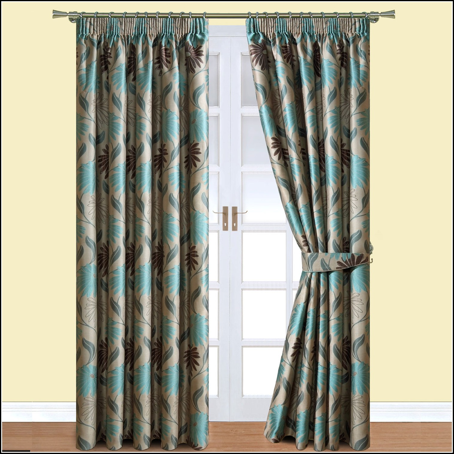 Teal And Brown Eyelet Curtains Curtains Home Design