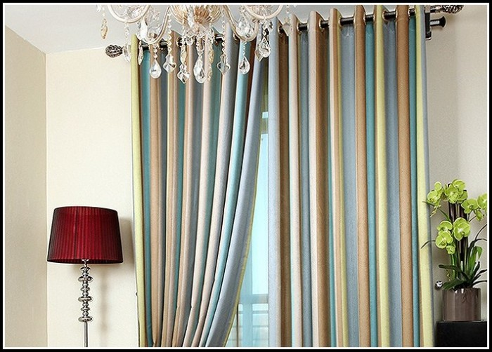Teal And Chocolate Brown Curtains