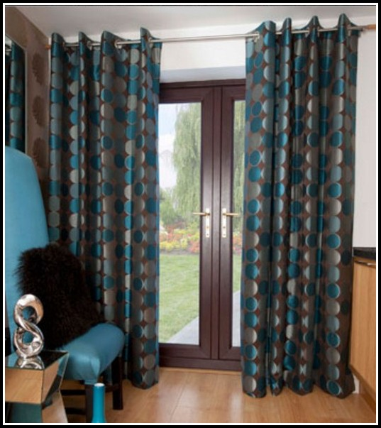 Teal Blue And Brown Curtains Curtains Home Design