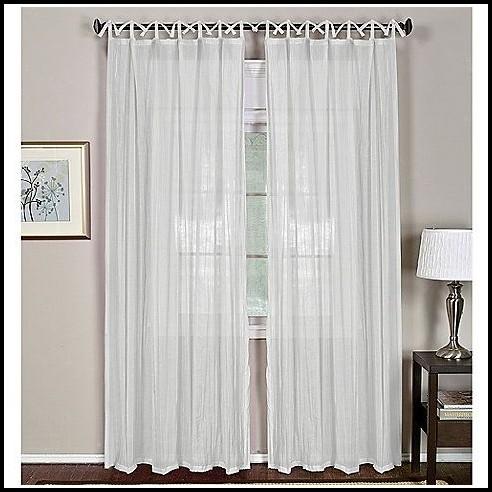 Tie Top Curtain Panels Sheer