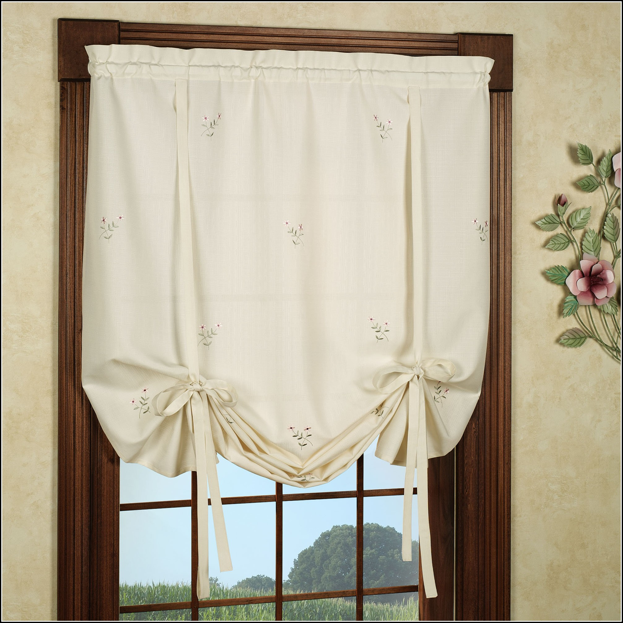 Tie Up Curtains Window Treatments