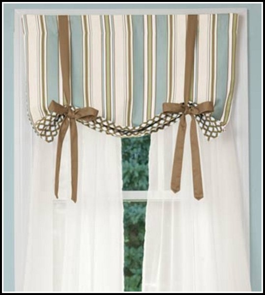 Tie Up Window Curtains
